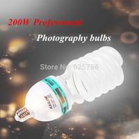 Free Shipping + 200W E27 Spiral Tricolor Photography Bulbs Photography Light Video Light Studio Flash Bulb Lamp for Photo Studio