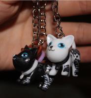 wholesale  new  kpop shinee kawaii cute 20pcs/lot  Cartoon animal Beautiful The dog key chains ring