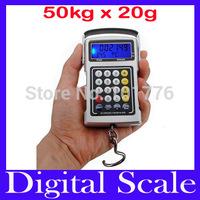 Free shipping 50Kg/110Ib Multifunction Luggage Hanging Digital Scale, Weighing Scale, MOQ=1
