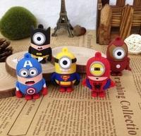 5 styles Cartoon Batman Captain America superman Iron Man minions usb disk stick 1gb 2gb 4gb 8gb 16gb usb flash drive memory