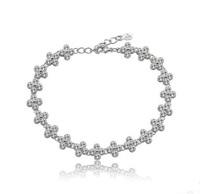 Office lady charm bracelet flower design bracelet
