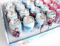 48 pcs/lot, FROZEN  School Supplies Drink telescopic pen ball-point pen,ballpoint pen Cans pen key chain gift,free shipping