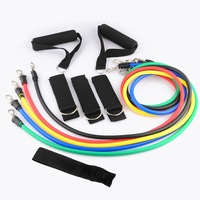 11-in-1 Yoga Latex Resistance Bands Gym Exercise Training Equipment Elastic Fitness Tubing Pull Ropes Expander