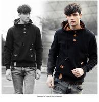 2014 Autumn Winter Young Men Fashion Casual Hoodies Teenager Boys Turtleneck Hoodies Hooded Sweatshirts