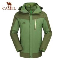Camel for outdoor Men outdoor jacket 2014 three-in fleece liner outdoor jacket a4w258081