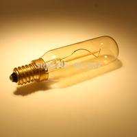 Free shipping 20pcs/lot  New Arrival 1.5w 110lm 360Degree E14 T25 LED bulb filament light CRI>80 halogen similar clear LED Bulb