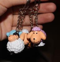 wholesale  new  kpop shinee kawaii cute 20pcs/lot  Cartoon animal Beautiful The goat key chains ring