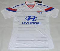 Best thailand quality 2015 lyon jersey home white olympique lyon shirt men soccer jersey