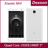 """2014 New Original Xiaomi Mi4 Quad Core M4 Mi4s 1920X1080P JDI 3GB RAM 16GB ROM Mobile Phone 5"""" Qualcomm Snapdragon 13MP Maksim"""