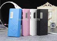 Free shiping Power Bank LCD 20000mAh Dual USB Charger Battery External Battery Charger Powerbank