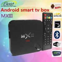 Android TV Box  MXIII  Amlogic S802 Quad Core Android 4.4 1G/8G WiFi 4K HDMI XBMC MX smart TV whole sale 5pcs/lot