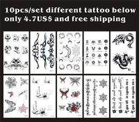 10pcs/lot,Tattoos Sticker Temporary/Flower,Rose,butterfly,moon,dragon,Tibetan,english letter/waterproof,fake tatooed body art/CE
