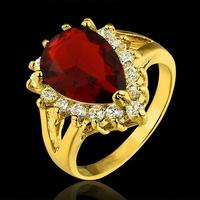 Jewelry Rings for women Aliancas de casamento semi Joias ouro 18k Heart Water Drop anel coroa wedding and engagement rings