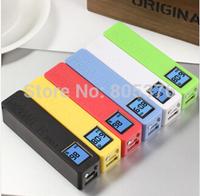 Free shiping Power Bank LCD 3000mAh Dual USB Charger Battery External Battery Charger Powerbank