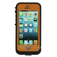 Waterproof Shockproof Fingerprint Scanner Full Case Cover for Apple Iphone 5 5S  (Works w/ Touch ID) - Orange