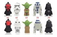 5 style Star Wars Darth Maul Yoda Darth Vader R2 D2 usb stick 2gb 4gb 8gb 16gb usb flash drive 100pcs/lot