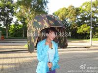 Free Shipping 1Piece Helmet Umbrella /Genki Army Umbrella Camouflage / novelty home umbrella gift