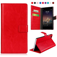 Crazy Horse Texture Leather Case with Credit Card Slots & Holder for Xiaomi M3
