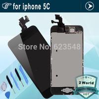 10pcs Original For iPhone 5C LCD Touch Screen Digitizer Assembly +joystick+speaker+camera+sensor flex + tools DHL free