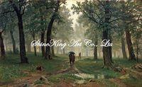 Realistic  landscape oil painting on canvas reproduction of  famous artist  Shi1064 60x100cm