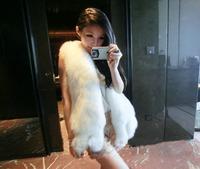 Luxurious Genuine 100%Real fur vest mink fur coat natural fur jacket Garment Shawl Chinchilla Color Plus Size Wholesale/Retail
