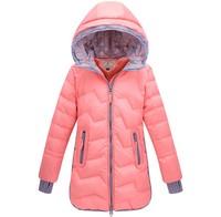 High quality 100% duck down jacket kids girls outerwear parka child clothing new 2014 winter Fashion warm children coat 6852