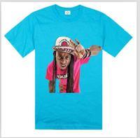 Young money t-shirt2014 Men's hip hop new style purple color short sleeve t shirt TRUKFIT WEZZY lil wayne