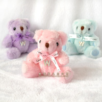 free shipping 50pcs Teddy Bear Wedding Favors candy bag 3 color to chose