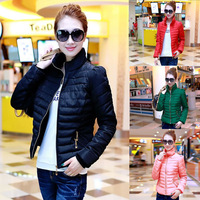 2014 New Winter Jacket Women Down Parka Cotton Jacket Korean Female Casual Collar Slim Short Down Jacket Free Shipping E1508