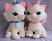 Free shipping cat sitting height 25 cm Mary cats dolls, plush toys, children's day gift cute Kitty cat dolls