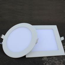 Free Shipping  Hot Ultra Thin 3W 4W 6W 9W 12W 15W 18W LED Downlight / Round Panel Light(China (Mainland))
