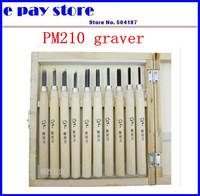 Bag mail woodpecker engraving knife set PM210 woodcut woodcut knife carving knife knife hand 10 wooden box