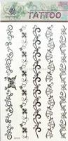 2014 Free Shipping Hot Selling Trumpet Flower Design Tattoo Sticker Waterproof In Stock GF638