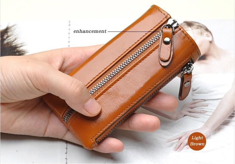 2014 nuovo arrivo in pelle di vacchetta genuino borsa auto portafogli chiave moda donna governante titolari chiave borsa wholesale nave di goccia