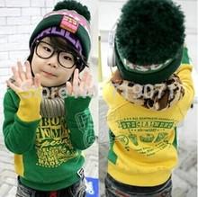 Roupa infantil  Children sweater 2014 spring/ autumn letter boys clothing girls clothing baby child fleece sweatshirt outerwear (China (Mainland))
