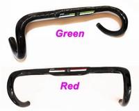 Specials!Full Carbon fiber Bicycle Compact Road handlebar 31.8*400/420/440mm Green/Red UD Carbon Road Handlebar