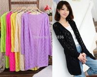 sweaters 2014 women fashion Three Quarter sleeve cardigan women cardigans cutout crochet knitted sweater women sweater tricotado
