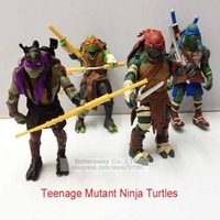"""New Arrival Teenage Mutant Ninja Turtles Action Figures 13cm/5"""" Tall 4pcs Set Collection Toys TMNT Figure  with Weapons In Stock"""