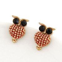 Fashion Jewelry Antique Sweet Metal Owl Stud Earring