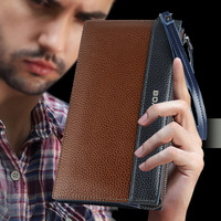 2014 new brand men genuine leather wallets carteira feminina carteiras desigual long purse