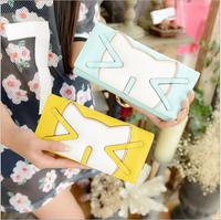 2014 New Taiwan three cat ladies fashion genuine multi-card wallet purse sweet bit of fashion