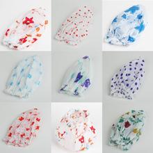 Home Products Women/Girls Waterproof Plastic Shower Hat Printing Bouffant Shower Cap Random Color HG-1020(China (Mainland))