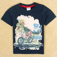 cartoon shirts Nova boys brand navy tunic top peppa pig t-shirt with embroidery summer boy short sleeve kids wear boy C5003