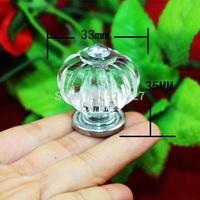 Large crown head acrylic plastic  single hole  drawer transparent fashion handle