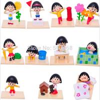Cheap 40set/lot Anime Cartoon Chi-bi Maruko Sakura Momoko PVC Action Figure Model Toys Dolls 5cm