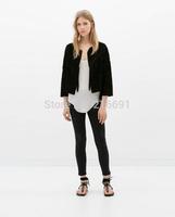 2014 New fashion Europe Women winter sexy irregularity sweater Lady Casual Loose brand design cardigan high quality#J215