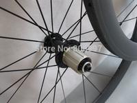 Only 1260g road bike 50mm carbon wheelset,super light carbon fiber tubular wheels with Powerway R13 hub+CN 424 spokes