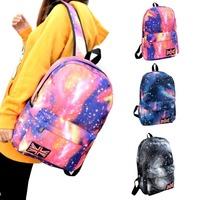 2015 New Colorful Women's Book bag Travel Rucksack School Bag Satchel Canvas Backpack
