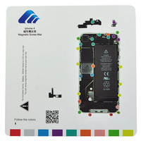 Professional Guide Magnetic Screw Keeper Chart Mat For iPhone 4G Free Shipping