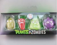 10sets/lot Plants vs Zombies Anime Action Figure 7-10cm 4pcs/set PVZ Collection Figures Toys Gifts Resin material